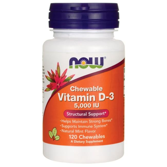 NOW Foods Chewable Vitamin D-3