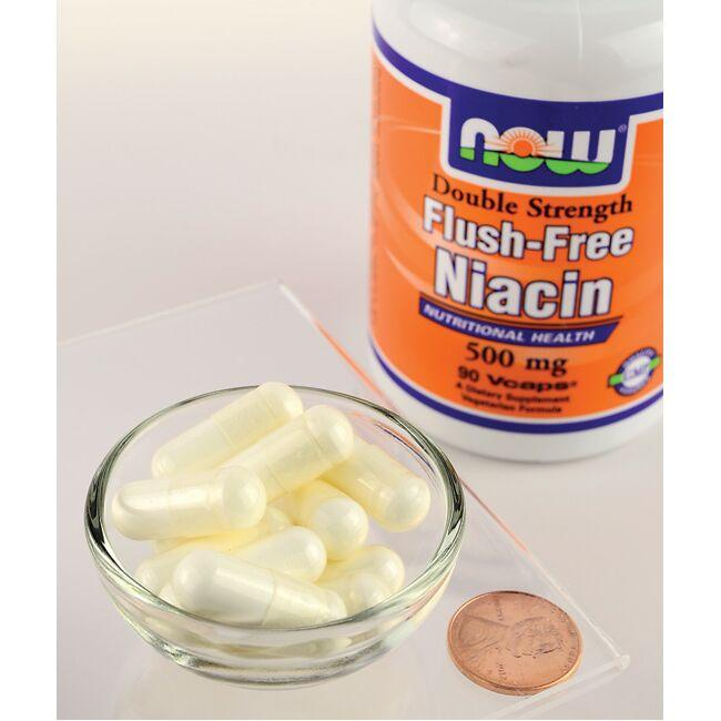 NOW Foods Double Strength Flush-Free Niacin Close Up