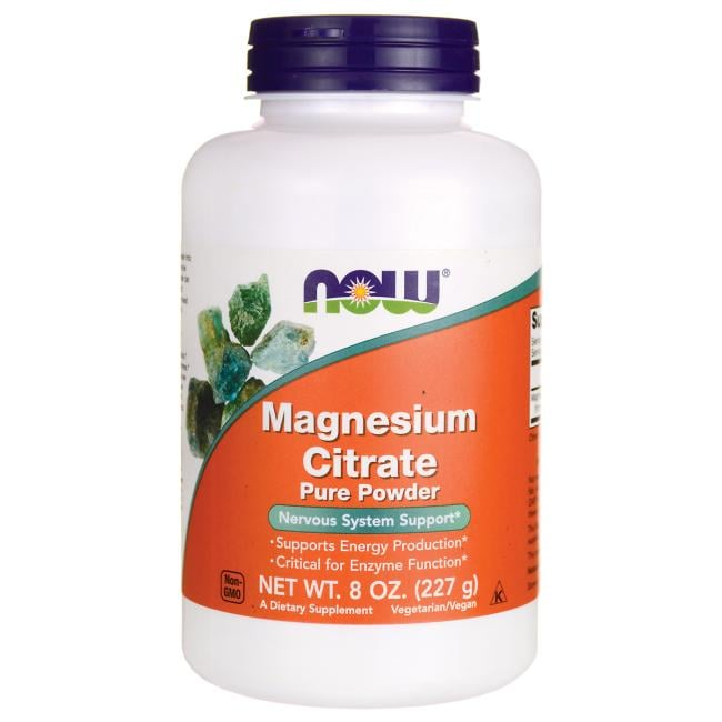 NOW Foods Magnesium Citrate Pure Powder