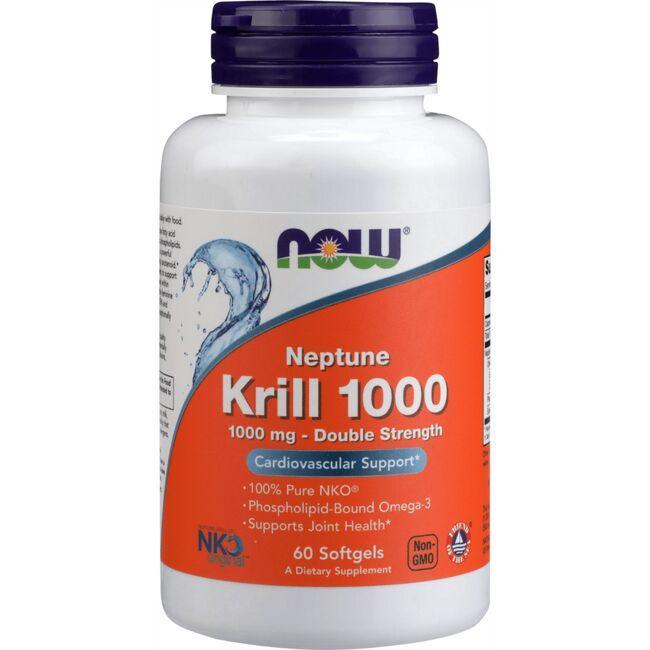 NOW Foods Neptune Krill 1000 1000 mg 60 Soft Gels Essential Fatty Acids