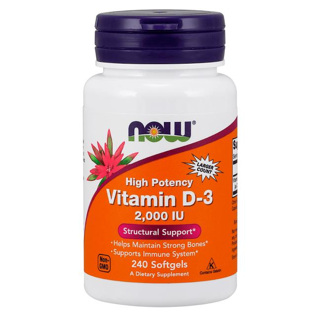 NOW Foods High Potency Vitamin D-3