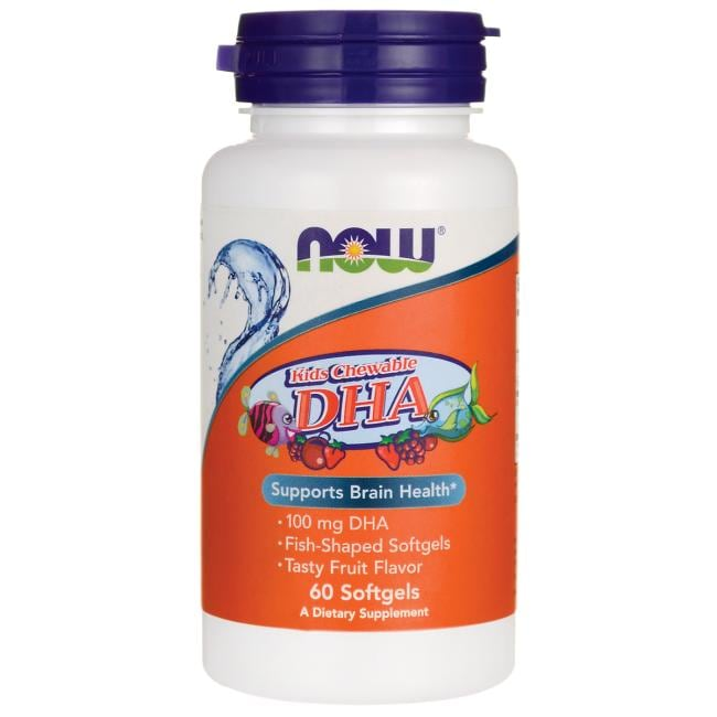 NOW Foods Kids Chewable DHA - Fruit Flavor
