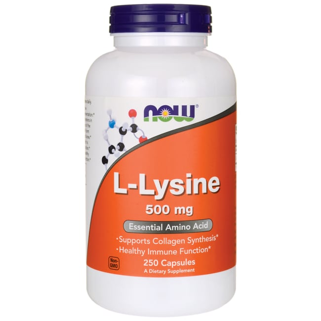 NOW Foods L-Lysine 500 mg 250 Caps - Swanson Health Products
