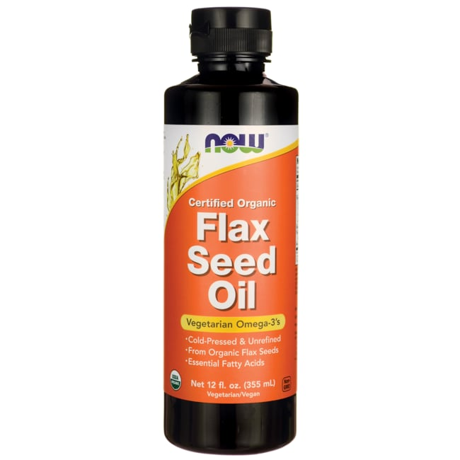 NOW Foods Flax Seed Oil Certified Organic