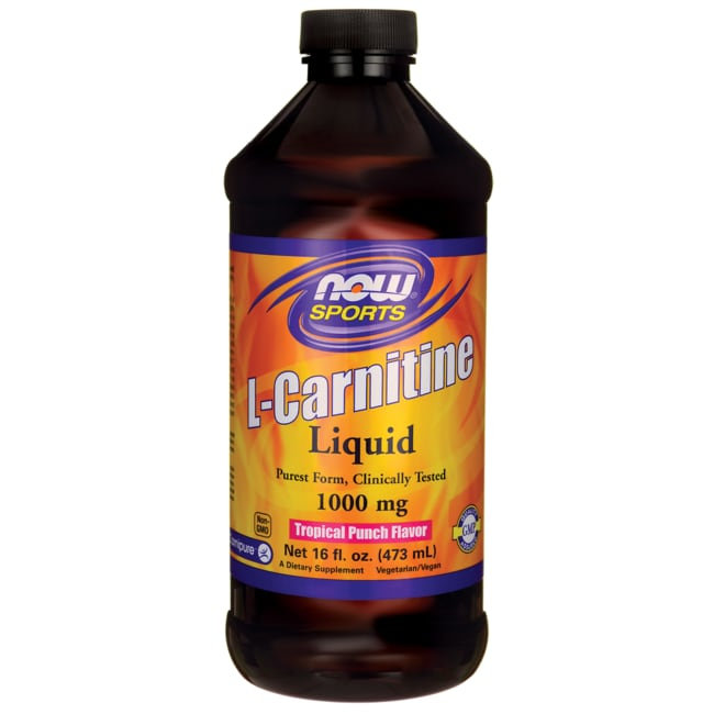 NOW Foods L-Carnitine Tropical Punch Flavor