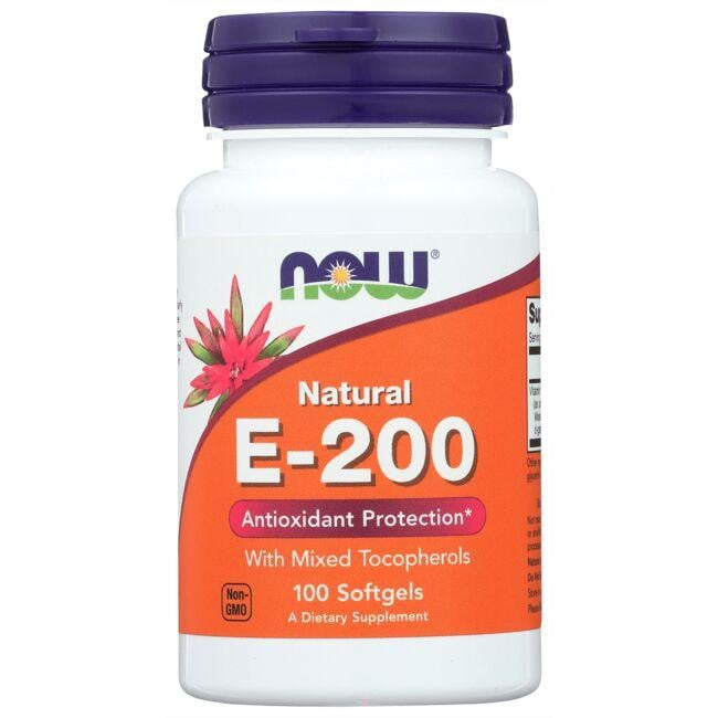 NOW Foods Natural E-200 With Mixed Tocopherols