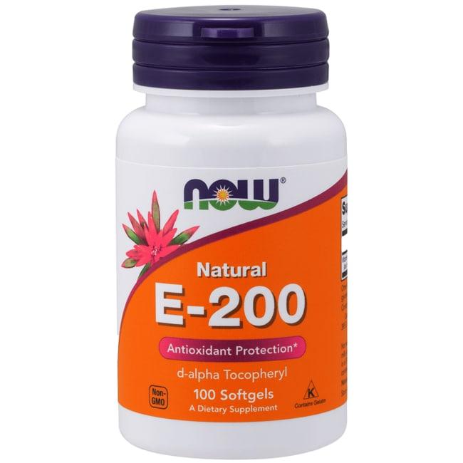 NOW Foods E-200 D-alpha Tocopheryl