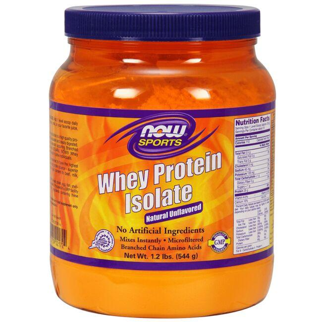 NOW Foods Whey Protein Isolate - Natural Unflavored