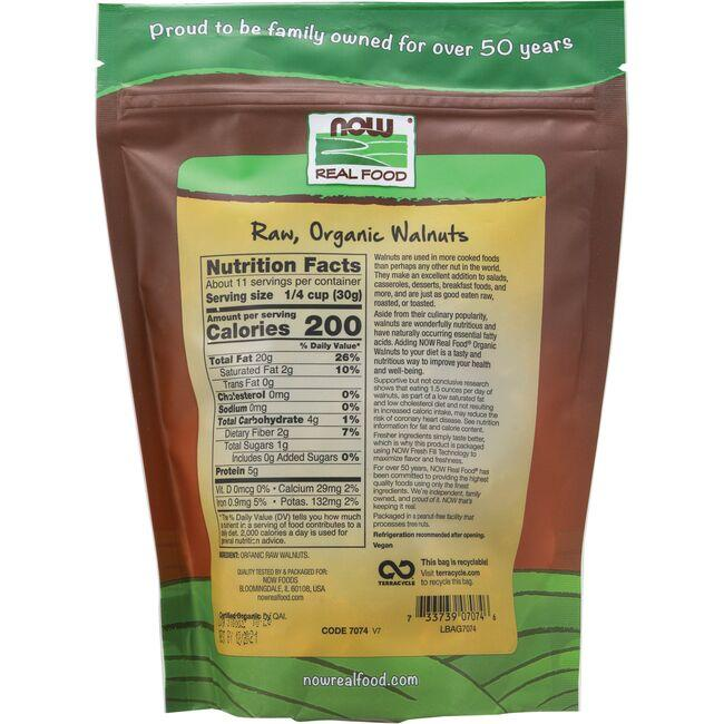NOW FoodsOrganic Raw Walnuts - Unsalted Close Up