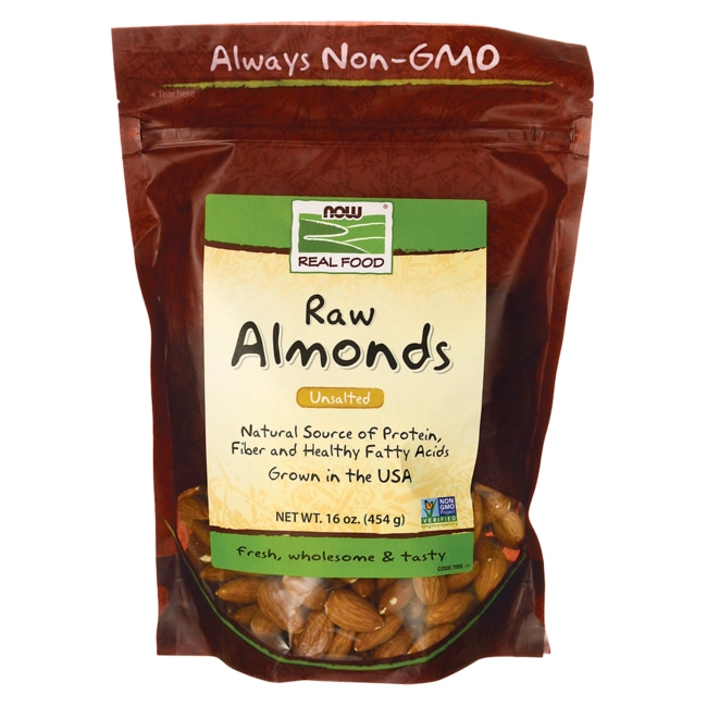 NOW Foods Raw Almonds - Unsalted