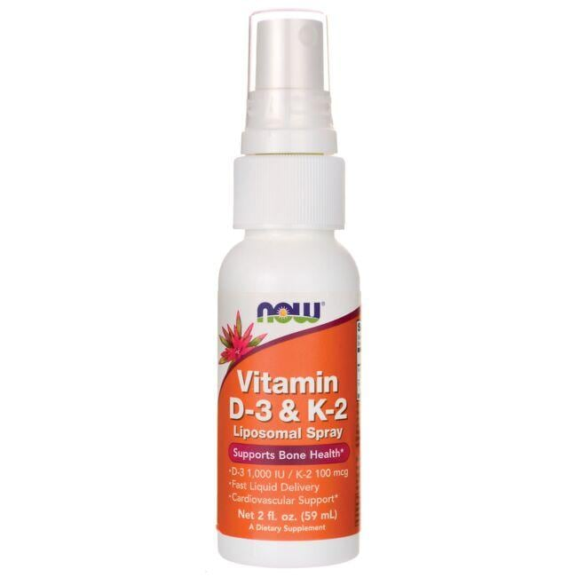 NOW FoodsVitamin D-3 & K-2 Liposomal Spray