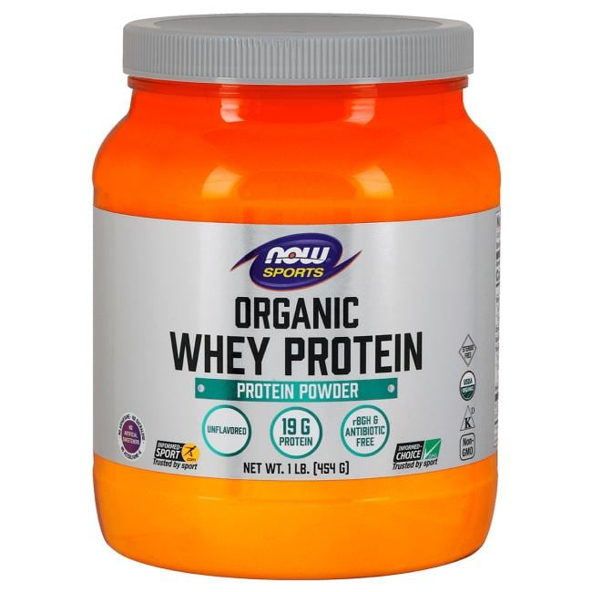 NOW Foods Organic Whey Protein - Natural Unflavored
