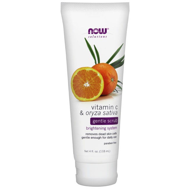 NOW FoodsVitamin C & Oryza Sativa Gentle Scrub