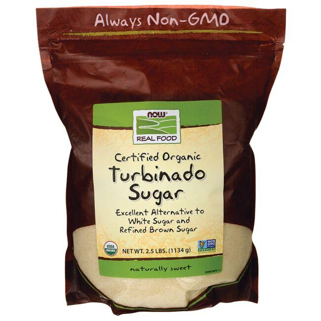 NOW Foods Certified Organic Turbinado Sugar