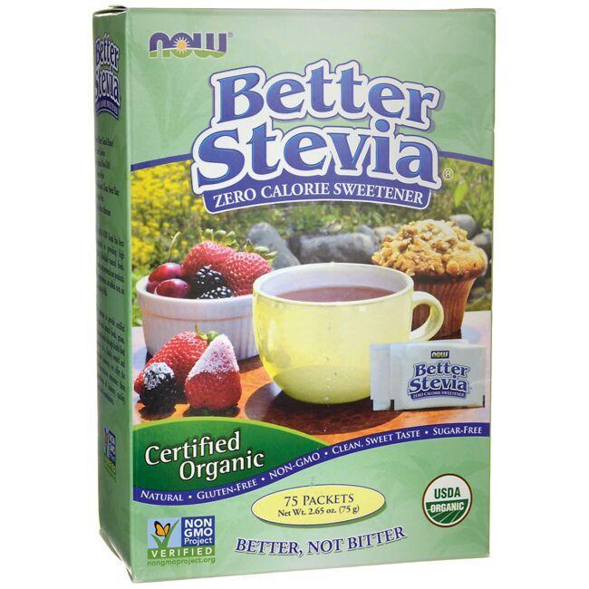 NOW FoodsCertified Organic Better Stevia Zero Calorie Sweetener