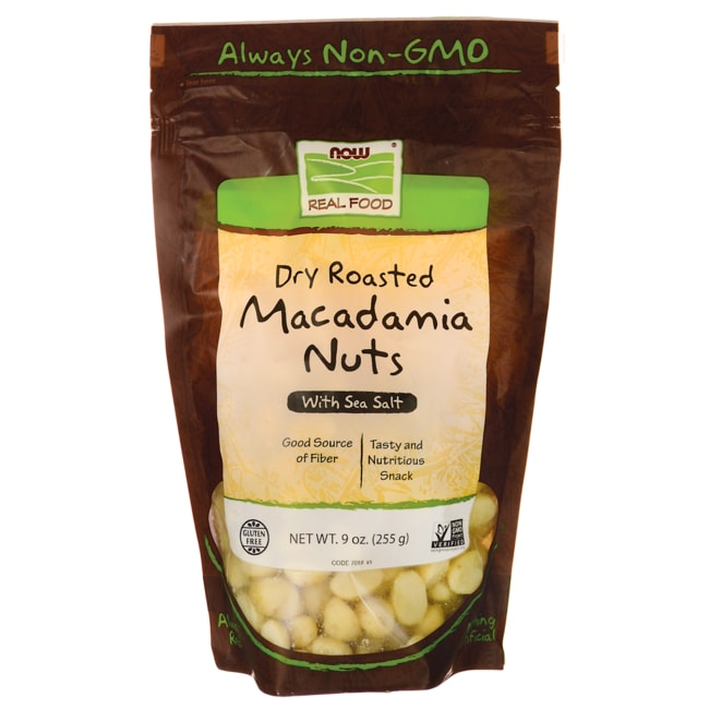 NOW FoodsDry Roasted Macadamia Nuts With Sea Salt