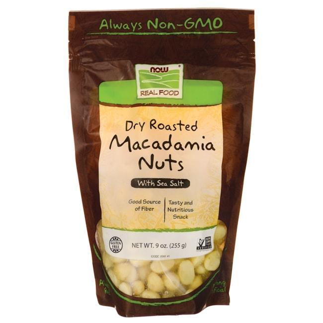 NOW Foods Dry Roasted Macadamia Nuts With Sea Salt