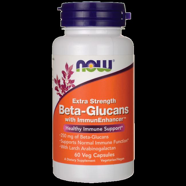 NOW Foods Beta-Glucans with ImmunEnhancer Xtra Strength