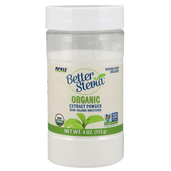 NOW Foods Certified Organic Better Stevia Extract Powder