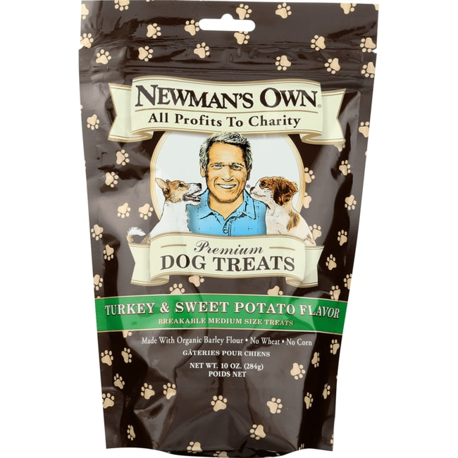 Newman's Own Organics Medium Dog Treats Turkey & Sweet Potato