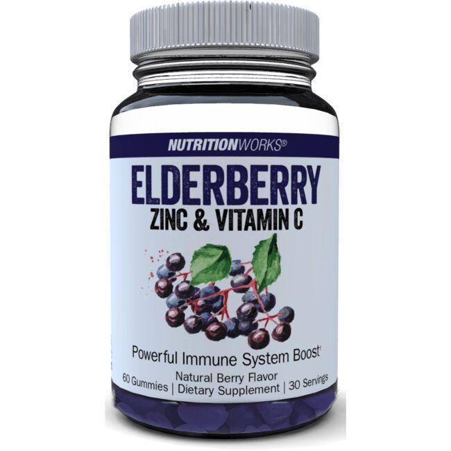 Nutrition WorksElderberry with Vitamin C & Zinc - Berry