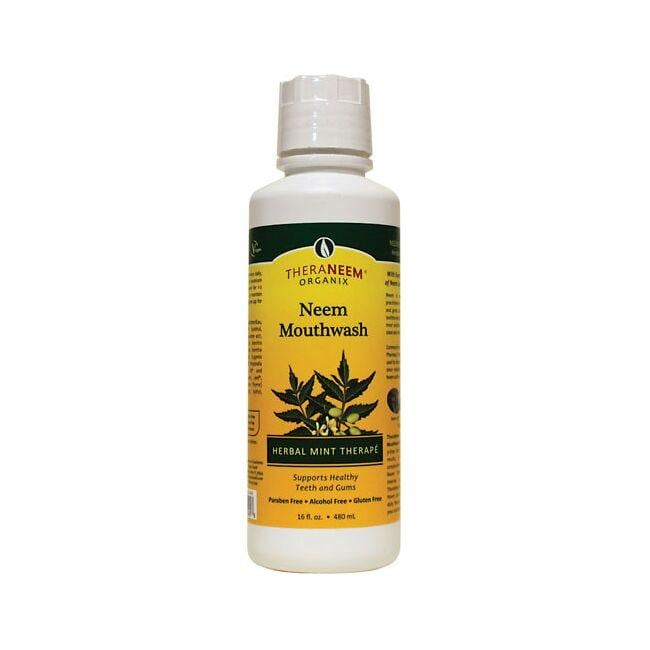 Organix South TheraNeem Organix Neem Mouthwash Herbal Mint Therape