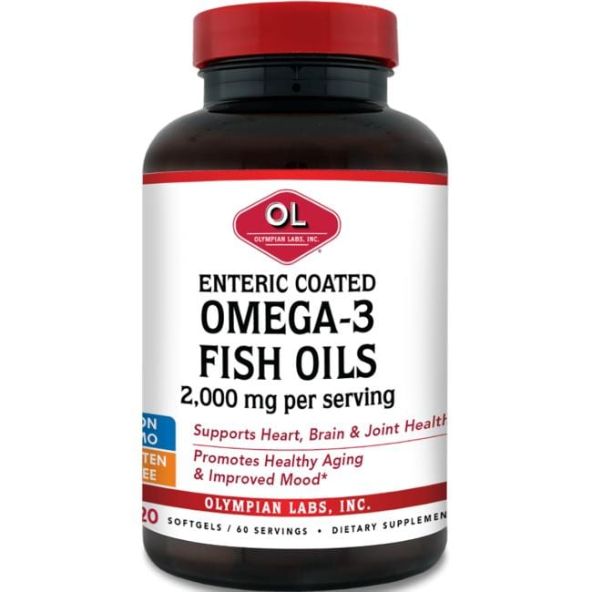 Olympian labs enteric coated omega 3 fish oils 2 000 mg for Omega 3 fish oil weight loss