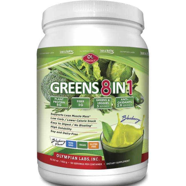 Olympian LabsGreens Protein 8 in 1 - Blueberry Flavor