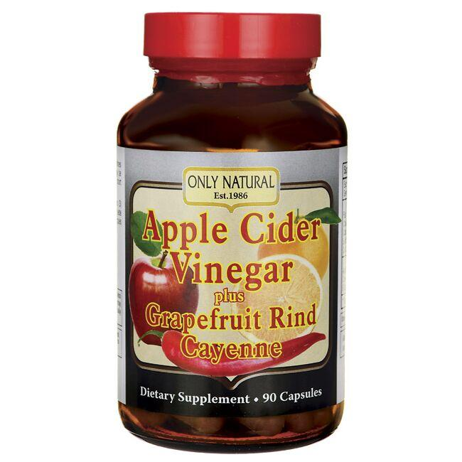 Only Natural Apple Cider Vinegar Plus Grapefruit Rind, Cayenne
