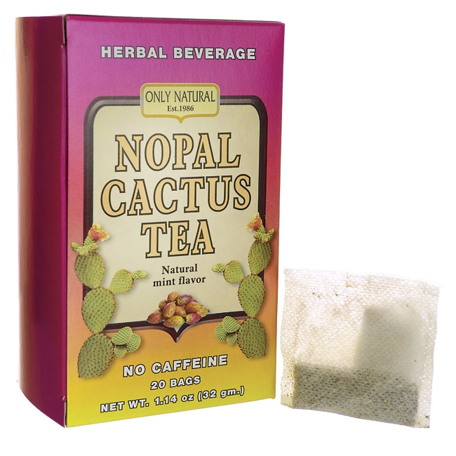 Only NaturalNopal Cactus Tea No Caffeine - Natural Mint Flavor