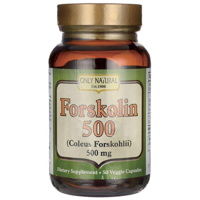 Only Natural Forskolin 500 (Coleus Forskohlii)