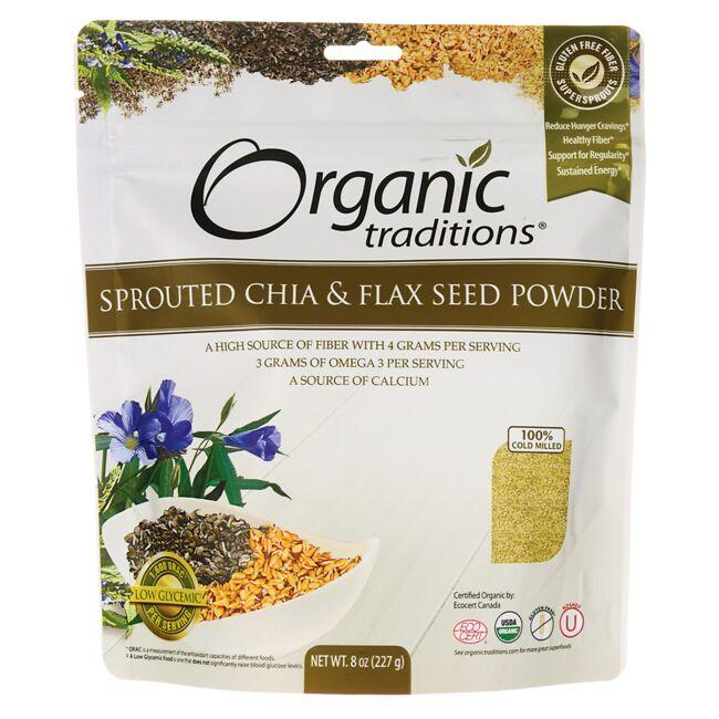 Organic Traditions Organic Sprouted Chia & Flax Seed Powder