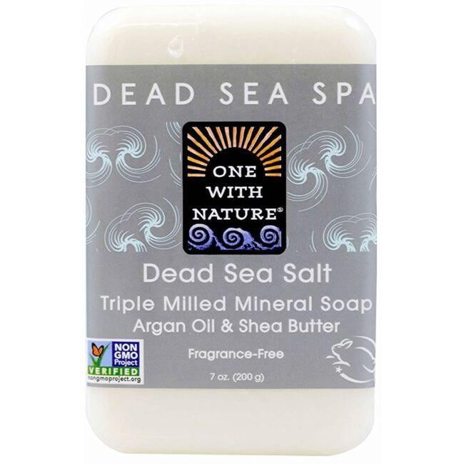 One With NatureDead Sea Minerals Triple Milled Bar Soap - Dead Sea Salt