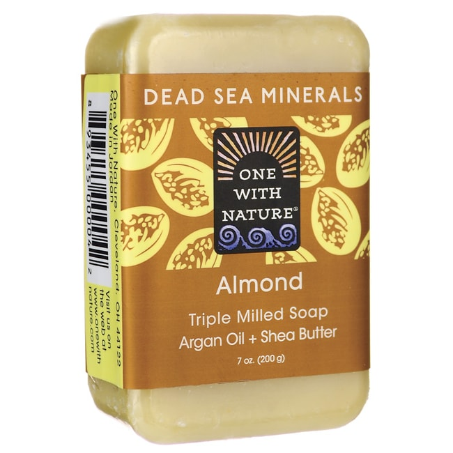 One With NatureDead Sea Minerals Triple Milled Bar Soap - Almond