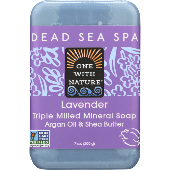 One With NatureDead Sea Minerals Triple Milled Bar Soap - Lavender