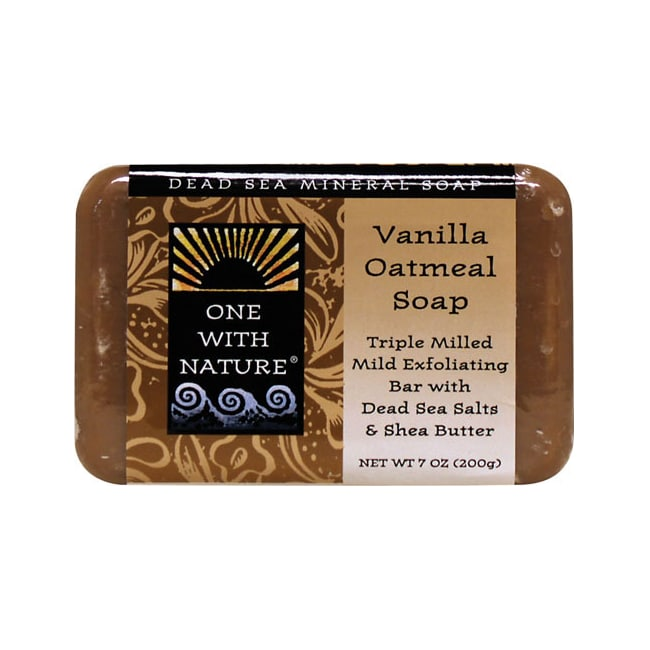 One With Nature Dead Sea Minerals Triple Milled Bar Soap - Vanilla Oatmeal