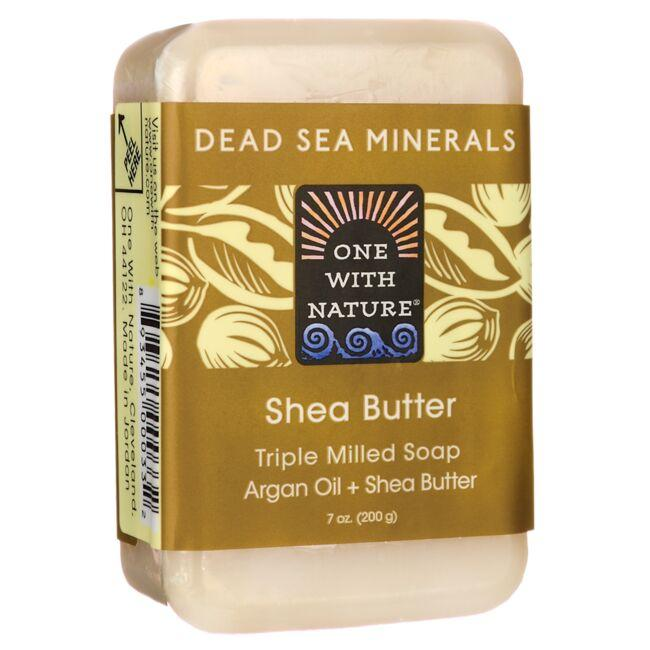 One With NatureDead Sea Minerals Triple Milled Bar Soap - Shea Butter