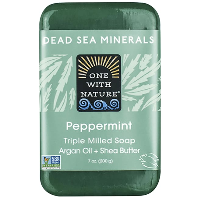 One With Nature Dead Sea Minerals Triple Milled Bar Soap - Peppermint