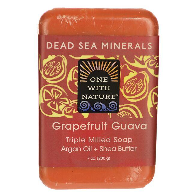 One With NatureDead Sea Minerals Triple Milled Bar Soap - Grapefruit Guava