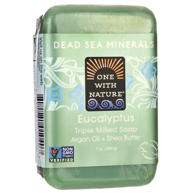 One With Nature Dead Sea Minerals Triple Milled Bar Soap - Eucalyptus