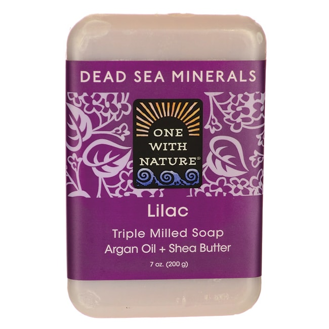 One With NatureDead Sea Minerals Triple Milled Bar Soap - Lilac