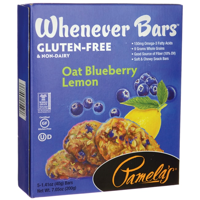 Pamela's ProductsWhenever Bars - Oat Blueberry Lemon