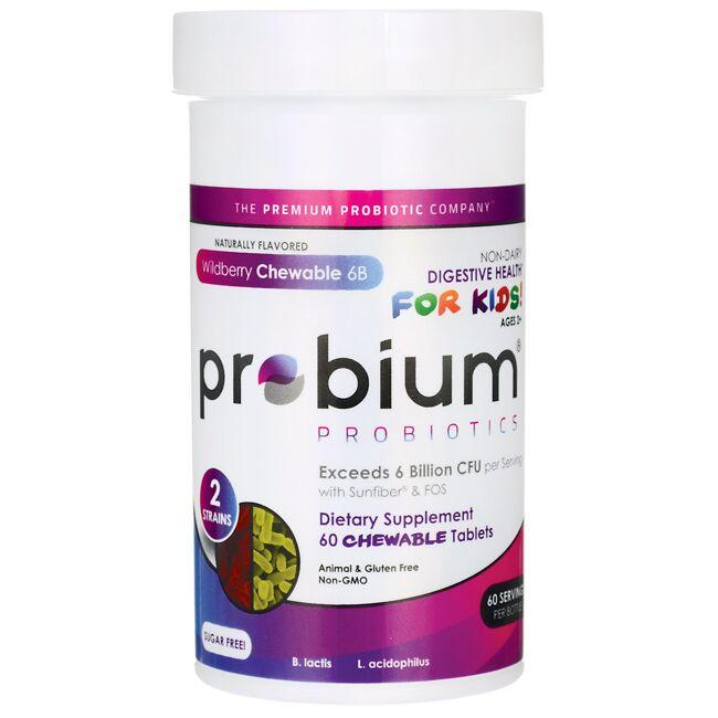Probium Digestive Health for Kids! Wildberry Chewable 6B