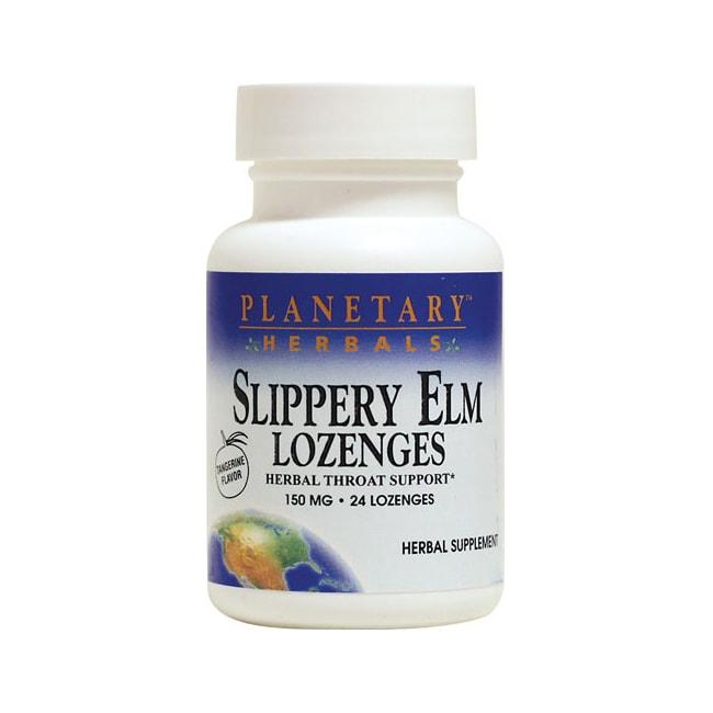 Planetary Herbals Slippery Elm Lozenges - Tangerine
