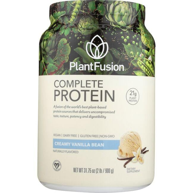 PlantFusion Complete Protein - Creamy Vanilla Bean 31.75 oz Powder