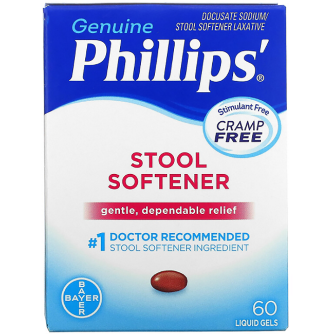Phillips Stool Softener Docusate Sodium 30 Lgels Swanson 174