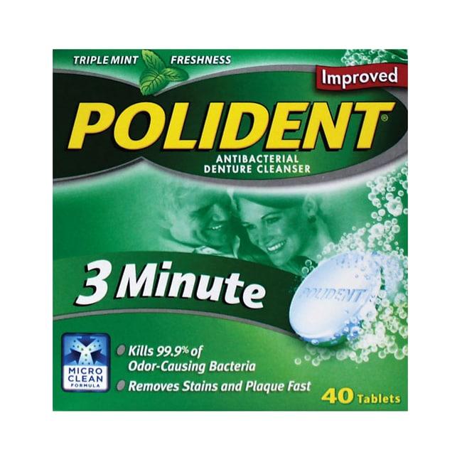 Polident3 Minute Antibacterial Denture Cleanser