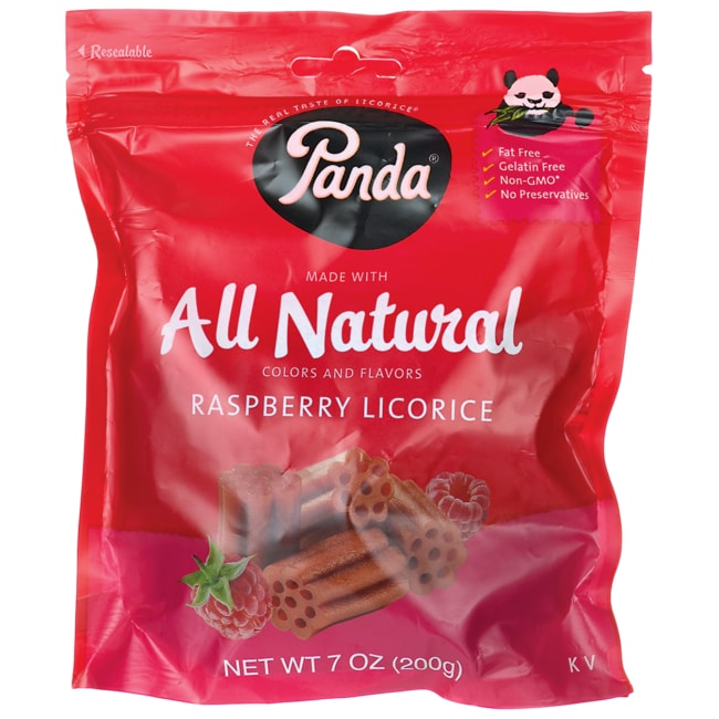 Panda Licorice All Natural Raspberry Licorice