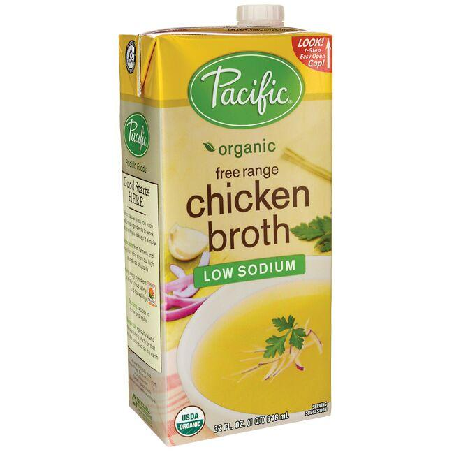 Pacific Foods Organic Free Range Chicken Broth - Low Sodium
