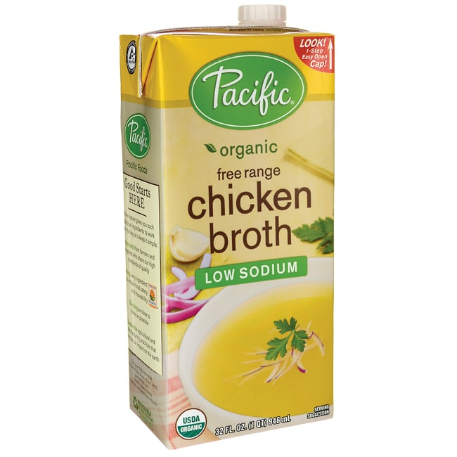 Pacific Natural FoodsOrganic Free Range Chicken Broth - Low Sodium